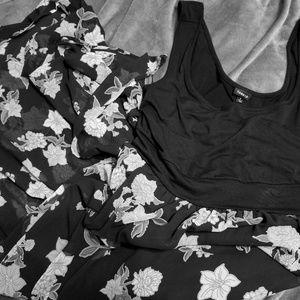 Semi sheer maxi dress